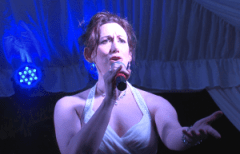 Broadway singer Andrea Rivette.