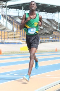 Dario Grandison of St George Secondary ran exceptionally well to win the boys' open 5000m.