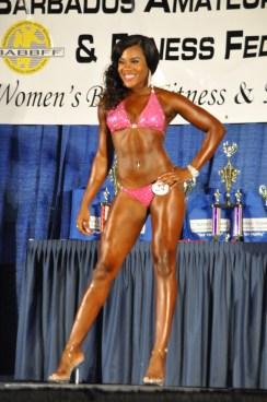 Janesia Pitt took the ladies bikini fitness title.