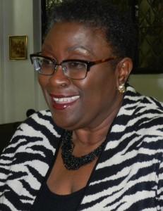 Former MP Elizabeth Thompson enjoying a moment.
