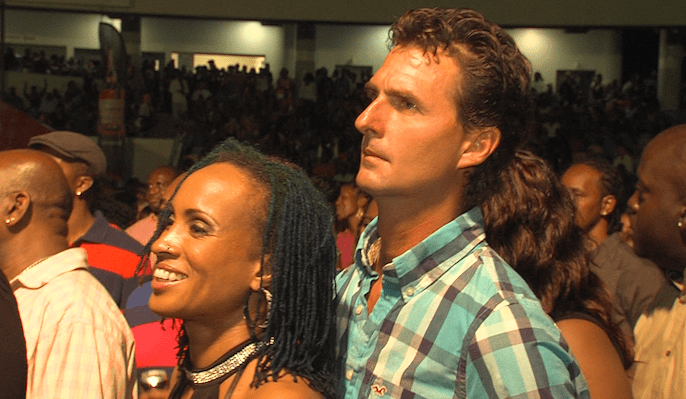 Alison Hinds and husband