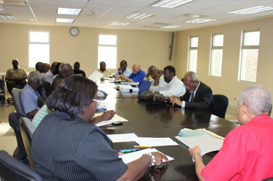 Representatives from both sides in the meeting at the Labour Department.