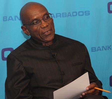 Central Bank Governor  Dr Delisle Worrell.