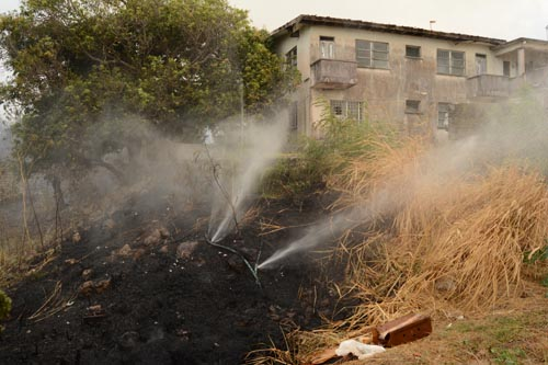 There were 990 plus grass fires this year.