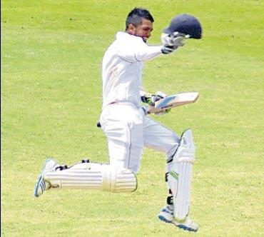 Amir Jangoo celebrates.