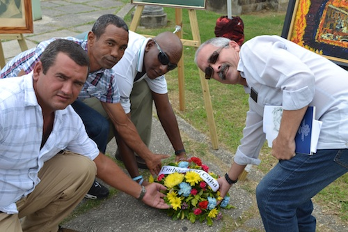 Representative  of Cuba taking part in the wreath laying.