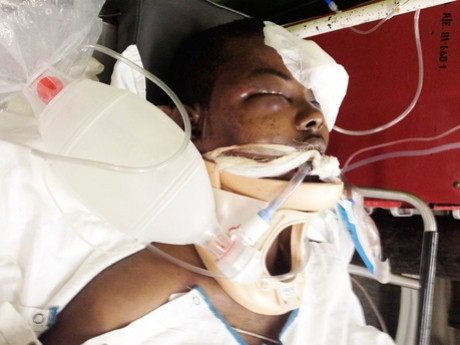 Mario Deane, of Rosemount, in Montego Bay, while he battled for his life at the Cornwall Regional Hospital.