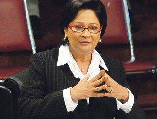 Prime Minister Kamla Persad Bissessar.