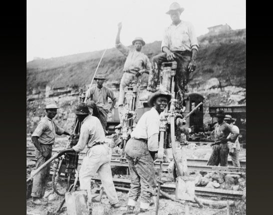 This picture, from the Library of Congress, shows West Indians on the job.