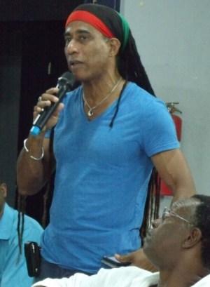 NCF Coordinator, Aja, speaking at last night's meeting.