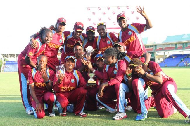West Indies Women basking in their achievement today.