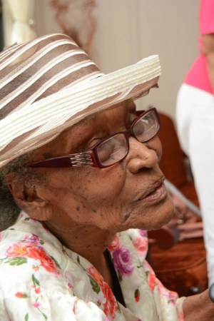 Dorcy Greaves, who has been friends with Hendrick Quarless for about 85 years, joined him on his big day.