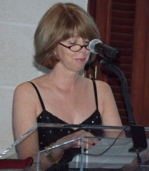 Manager of Sheraton Mall Sharon Oran giving a speech.