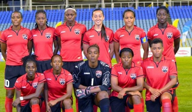 Some members of the Trinidad and Tobago women's team.