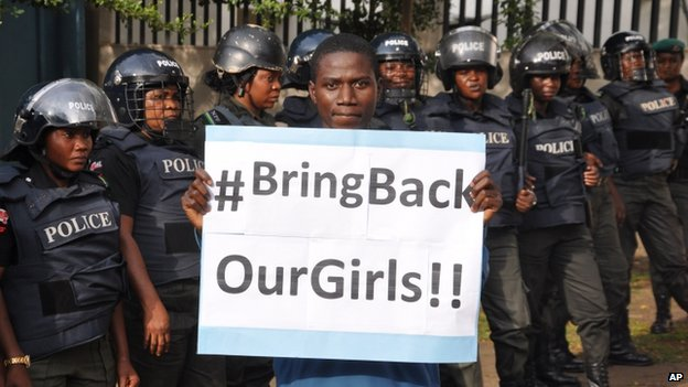 The government failure to secure the schoolgirls' release has sparked mass protests.
