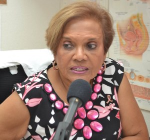 Medical Co-ordinator of the Breast Screening Programme of the Barbados Cancer Society Dr Shirley Jhagroo.