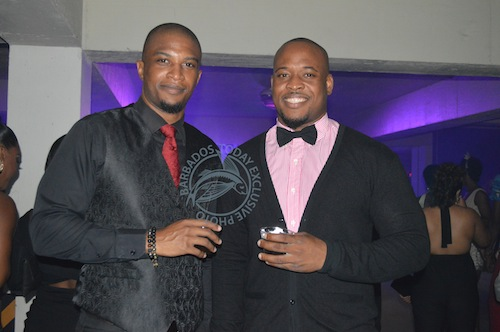 Michael Jordan (left) and Jamar Crichlow opted for ties to add a classy look.