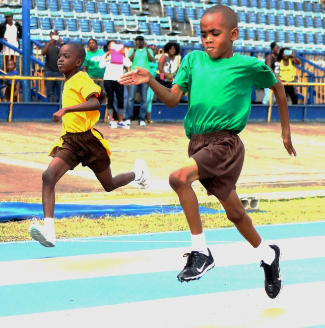 Victor ludorum honours went to Tristan Gill of Green House who was all business in the under-nine boys 150m.