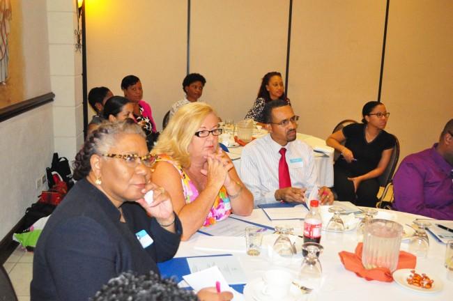 Participants at the planning seminar.