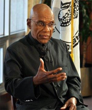 Central Bank Governor Dr Delisle Worrell