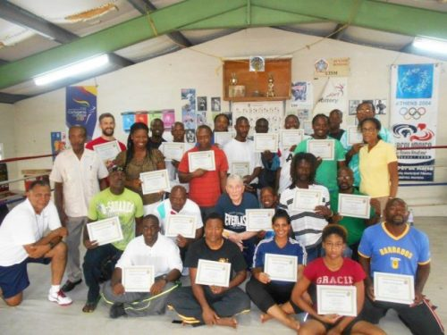 Boxing coaches who took  part in the programme.
