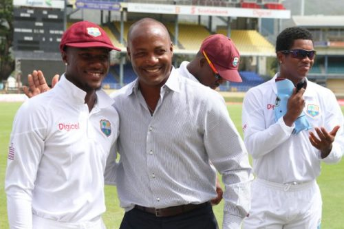 Brian Lara (centre) says he is pro-players and willing to lead the West Indies Cricket Board.