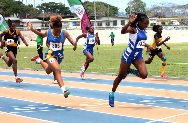Joint victrix ludorum Akayla Morris was unstoppable in the under-15 girls 100m.