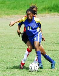 Soraya Toppin-Herbert scored for the Combined Clubs team.