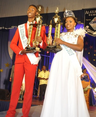 King and Queen of Alexandra, Kobie Barrow and Sianna Gibson.