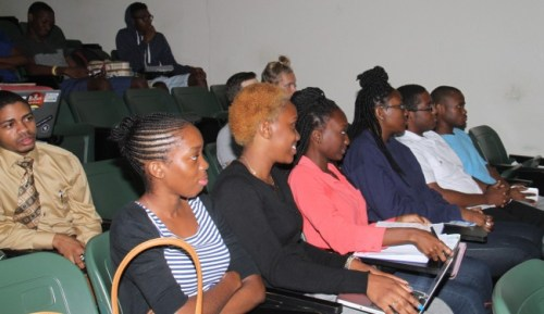 A section of the audience who attended the panel discussion, Paying for the Cost of Health Care in Barbados:  The Great Dilemma.