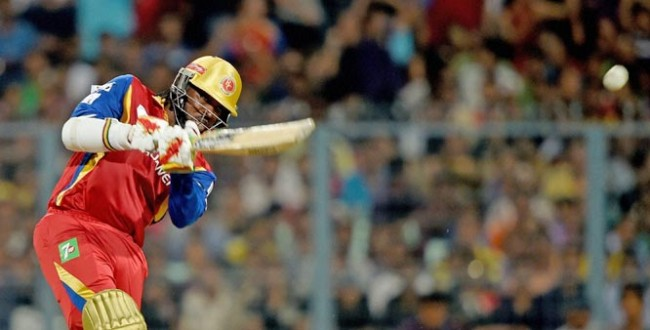 Chris Gayle's knock of 96 led Royal Challengers Bangalore to a three-wicket victory