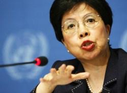 WHO Director General Dr Margaret Chan.