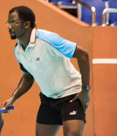 Kevin Wood will team-up with Tamisha Williams in the mixed doubles final.(FP)