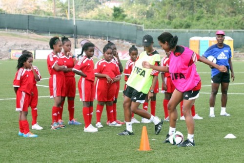 Young girls paying rapt attention to the drills demonstrated today.