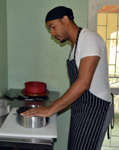 Caleb Cooke has a passion for cooking.