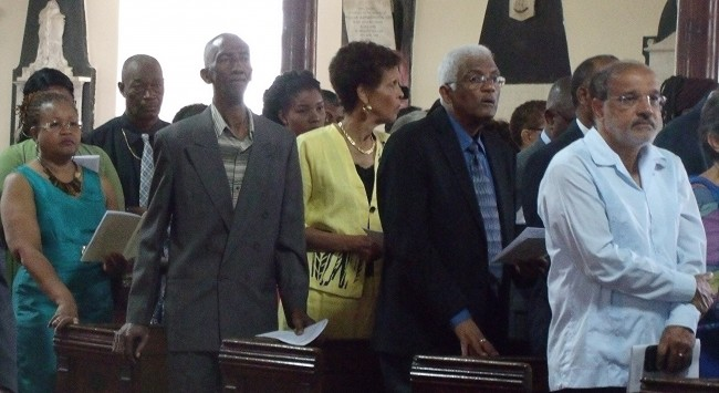 Several Barbados-based Guyanese attended the independence service.