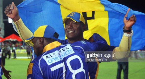 BASSETERRE, ST. KITTS AND NEVIS - AUGUST 16:  Barbados Tridents mentor, Desmond Haynes during the Limacol Caribbean Premier League 2014 final match between Guyana Amazon Warriors and Barbados Tridents at Warner Park on August 16, 2014 in Basseterre, St. Kitts and Nevis. (Photo by Ashley Allen/LatinContent/Getty Images)