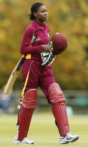 Britney Cooper top-scored for the West Indies.