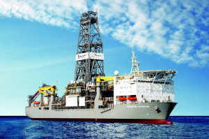 The Deepwater Champion exploration ship which is currently digging the well.