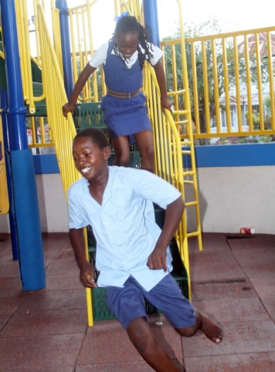 Having a run for the fun of it in Chefette's playground.