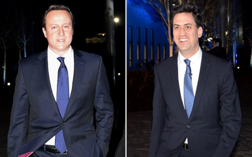 David Cameron (left) and Ed Miliband.