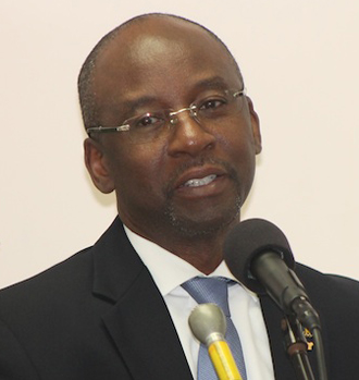 Minister of sports Stephen Lashley