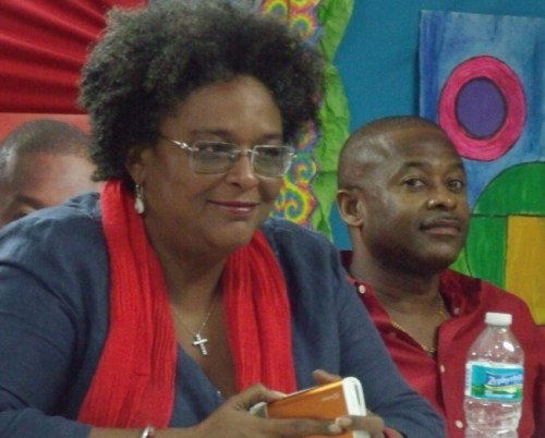 BLP Leader, Mia Mottley and St Michael West Central candidate Ian Gooding-Edghill.