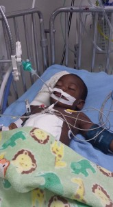 18 Month old, Travis Rudder Jr. recovering in the ICU.