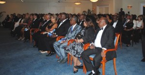 The audience during the ceremony at Sandy Lane.
