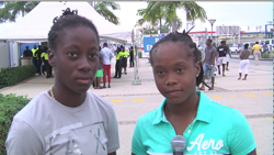 West Indies women's team leg-spinner Shaquana Quintyne (at right) thought the Hero CPL opening match great.