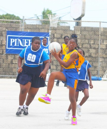 St Jude's captain Ria Greene is all poise as she takes this pass.