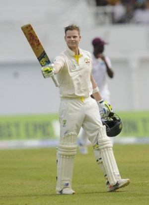 Steve Smith's brilliant form continued with another Test century.