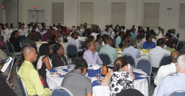 A section of the audience at this morning's post-Budget breakfast.