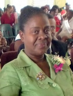 Principal of Sharon Primary Pamela Small-Williams.